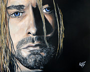 Kurt Cobain Metal Prints - Kurt Cobain Metal Print by Tom Carlton