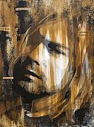 Pop Singer Mixed Media - Kurt Cobain Tormented  by Brad Jensen