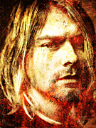 Cobain Framed Prints - Kurt Framed Print by Juan Jose Espinoza