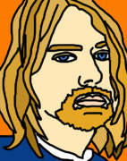 Caricature Art - Kurt Kobain by Jera Sky
