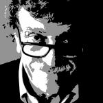Kurt Vonnegut Print by Adam Winnie