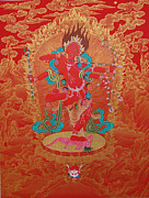 Thangka Prints - Kurukulla Print by Binod Art School
