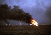 Crimes Photo Prints - Kuwaiti Oil Wells Set On Fire Print by Everett