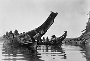 Tribe Photos - KWAKIUTL CANOES, c1914 by Granger