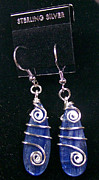 French Jewelry Originals - Kyanite and Sterling Silver Earrings by Heather Jordan