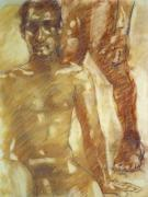 Nude Couple Pastels - Kyle behind KB by Jeffrey Morin
