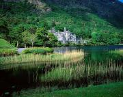 Monasticism Metal Prints - Kylemore Abbey, Co Galway, Ireland Metal Print by The Irish Image Collection