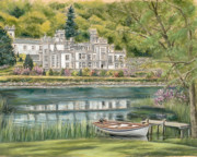 Prints Pastels - Kylemore Abbey Connemara Galway by Vanda Luddy
