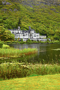 Overcast Day Prints - Kylemore Abbey Print by Gabriela Insuratelu