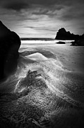 Sand Pattern Posters - Kynance Cove Cornwall Poster by Dorit Fuhg