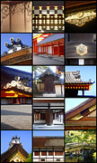 Collages Acrylic Prints - Kyoto Imperial Palace by Roberto Alamino