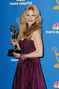 Atas Emmys Awards Framed Prints - Kyra Sedgwick In The Press Room Framed Print by Everett