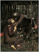 John William Waterhouse Prints - La Belle Dame Sans Merci Print by John William Waterhouse