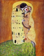 Gustav Klimt. Kiss Posters - La Besita Poster by Randy Burns