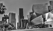 Frank Gehry Framed Prints - LA Black n White Framed Print by Chuck Kuhn