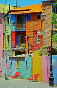 Bunt Framed Prints - La Boca - Buenos Aires Framed Print by Juergen Weiss