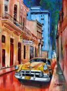 Buildings Tapestries Textiles Originals - La Bodeguita by Maria Arango