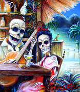 Skulls Paintings - La Borracha by Heather Calderon