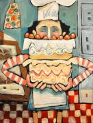 Whimsical Paintings - La Boulanger Francaise by Tim Nyberg