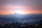 Los Angeles Skyline Framed Prints - La Ca Framed Print by Dan Holm