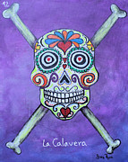 Chicana Mixed Media - La Calavera by Sonia Flores Ruiz