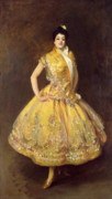 Brunette Prints - La Carmencita Print by John Singer Sargent