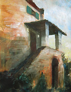 Tuscany Vineyard Oil Paintings - La Casa di Giordano I by Christopher Clark