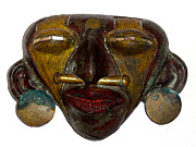 Boutique-hotel Prints - La Casa Sol Tribal Mask Print by Al Bourassa