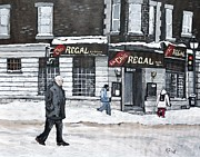 Montreal Street Life Painting Prints - La Chic Regal Pointe St. Charles Print by Reb Frost