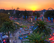 Los Angeles County Photos - LA County Fair at Sunset by Eddie Yerkish