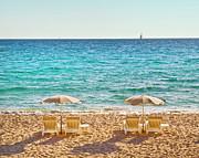 La Croisette Beach, Cannes, Cote D'azur, France Print by John Harper