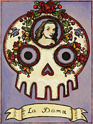 Dama Paintings - La Dama Calavera Loteria by Maryann Luera