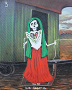 Caboose Mixed Media - La Dama by Sonia Flores Ruiz