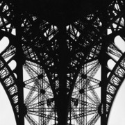 Paris Metal Prints - La Dame de Fer Metal Print by Hans Mauli