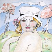 Artdeco Paintings - La Douceur du Printemps by Coco DE JARDIN