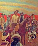 Poncho Painting Framed Prints - La Fiesta de San Martin de Caballo Framed Print by James Sanchez