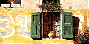 Vase Painting Metal Prints - la finestra di Sue Metal Print by Guido Borelli