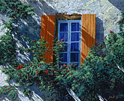 Blue Vase Metal Prints - La Finestra E Le Ombre Metal Print by Guido Borelli