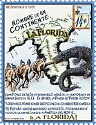 Ponce Mixed Media Posters - La Florida Nombre de Un Continente Poster by Warren Clark