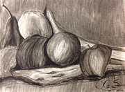 Food And Beverage Drawings - La Fruta by Ken Sahr