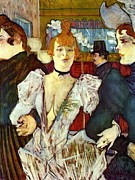 Dancer Paintings - La Goule arriving at Moulin Rouge by Pg Reproductions