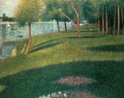 Georges Pierre Framed Prints - La Grande Jatte Framed Print by Georges Pierre Seurat