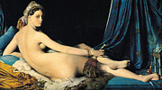 1814 Paintings - La Grande Odalisque by Pg Reproductions