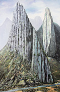 Cerro Paintings - La Huasteca by Sonia Flores Ruiz