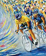 Lance  Armstrong Paintings - L.A. in Paris by Stan Sweeney