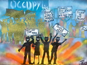 Tea Party Paintings - LA is..Occupied by Tony B Conscious