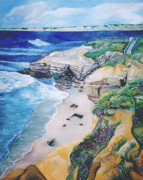 John Keaton Paintings - La Jolla Coast by John Keaton