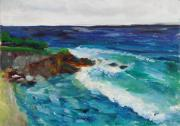 Original Oil Paintings - La Jolla Cove 043 by Jeremy McKay