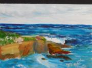 Original Oil Paintings - La Jolla Cove 045 by Jeremy McKay