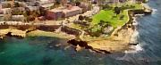 Clouds Photographs Digital Art - La Jolla Cove Aerial by Russ Harris